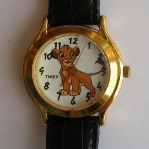 "Vintage Timex Disney Watch Simba ""The Lion King"""